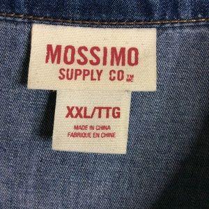 Mossimo XXL Denim Color Blue High Low Women's Top